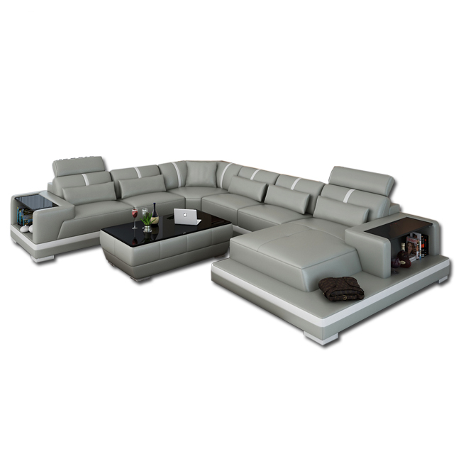 Big White Leather New Design Corner Sofa Modern - Buy Corner Sofa