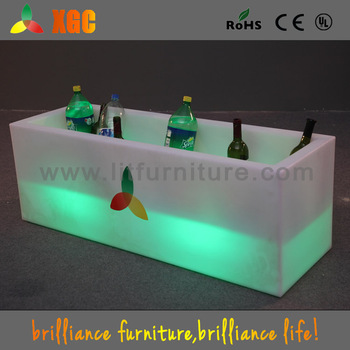 custom ice bucket/ ice bucket/factory plastic ice bucket/luminous ice bucket