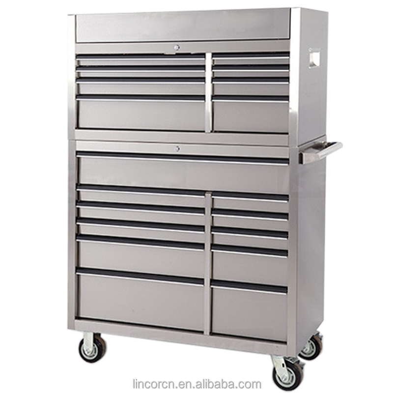 2016 New 42 Inch stainless steel metal clothes latop wood storage cabinet