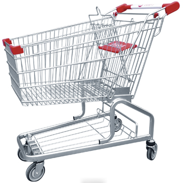 supermarket crash galley shopping cart trolley with good quality JS-TGE-AM-02