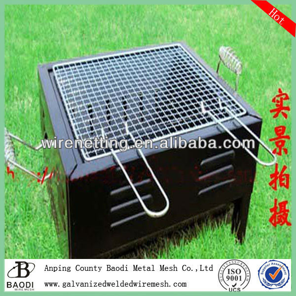 woven grid galvanized barbecue grill netting