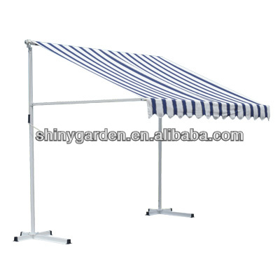 Outdoor Manual Retractable Awning Patio Awning,Portable ...