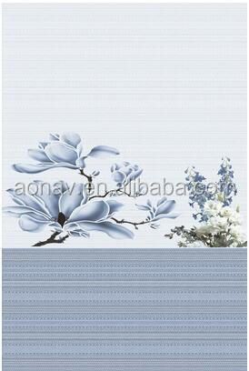 sky blue flower look ceramic wall tile for bathroom design