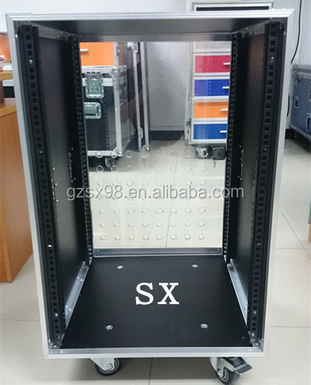 6U 8U 12U 16U Amplifier rack case for power amps with glass door