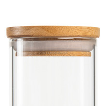 Hot sale borosilicate glass candle jar with lid