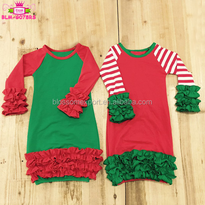 Infant Baby Boutique Clothes Long Colorful Arrows Ruffle Baby Girl Sleeping Gown And Hat