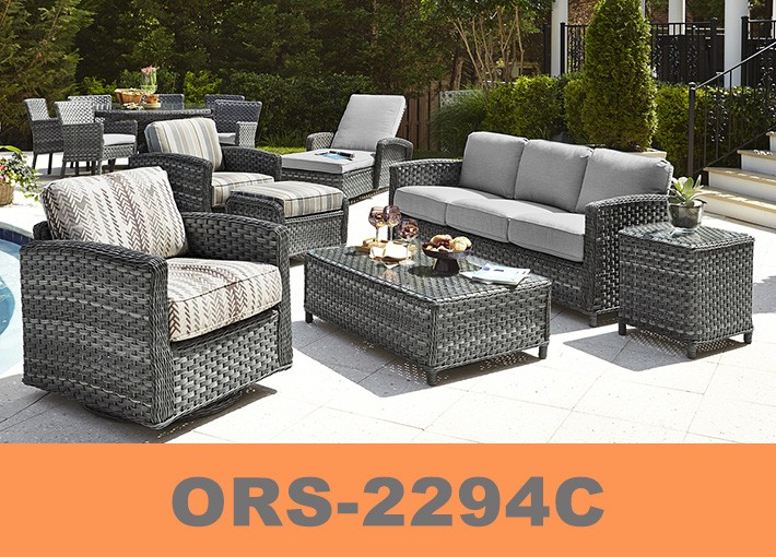 Luxury round rattan large garden use 8 seater sofa set and wicker ...