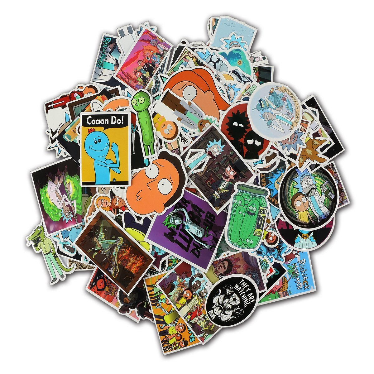 Rick And Morty stickers-135 Pcs Xawy Laptop Stickers Motorcycle/ Bicycle/ Skateboard Stickers, Luggage Decal Car Sticker Pack