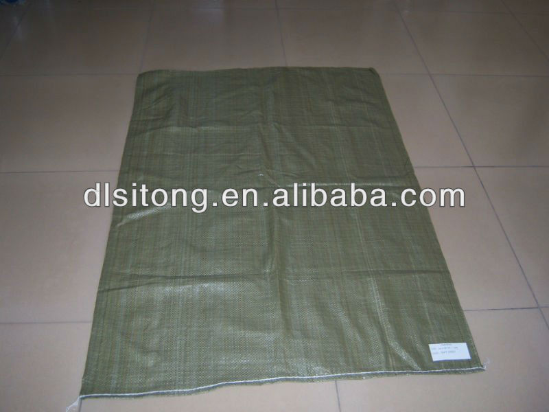 55X95 green recycle pp woven garbage bag