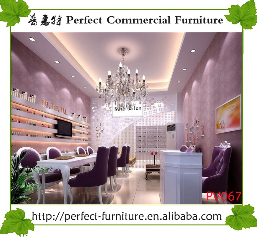 Shopping Mall Wooden Nail Bar Kiosk Beauty Shop Decoration For