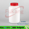 500ml empty pharmaceutical pills bottle , 17oz small round plastic containers