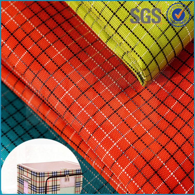 High quality tear resistant polyurethane coated 100% nylon 210t taffeta fabric coated for cosmetic bag
