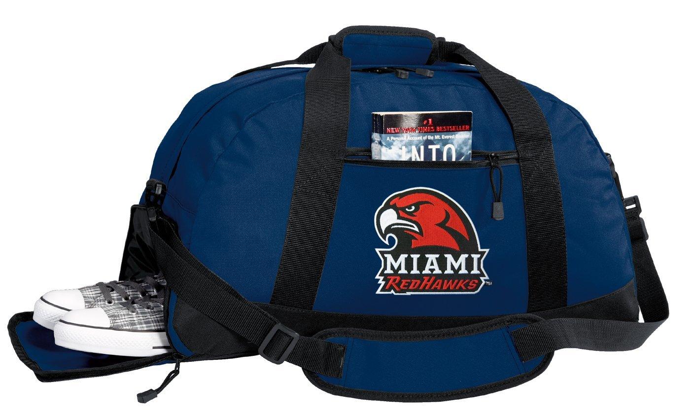 Miami RedHawks Duffel Bag - Miami University Gym Bags w/ SHOE POCKETS
