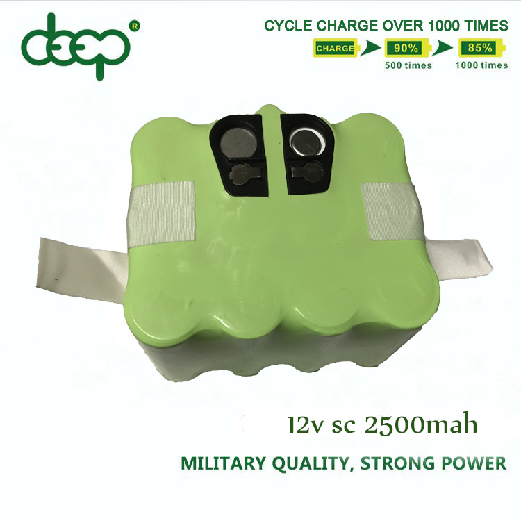 Manufacturer low self-discharge 6.0v 7.2v 12v 14.4v sc/aa/aaa nimh rechargeable battery pack for vacuum cleaner 3000mah 2500mah