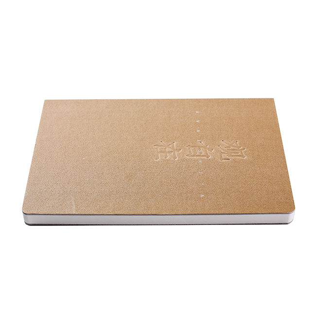 Custom kraft paper cover spiral dot grid notebook with pocket