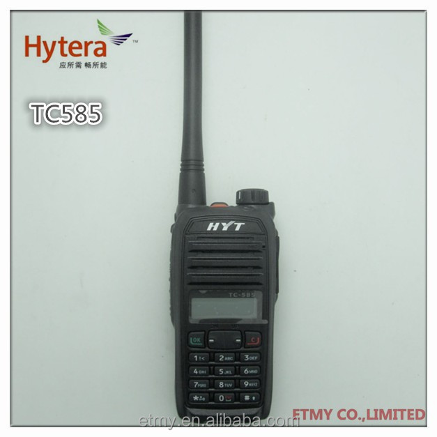 Hyt Tc-585 Walkie Talkie Vhf Uhf Radio Transceiver