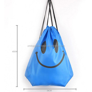 Waterproof Nylon sport football reusable drawstring String backpack dust bags for shoes