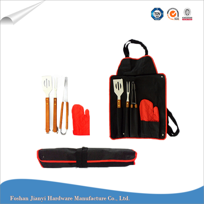 BBQ Accessory Stainless Steel Portable Apron BBQ Tool Set