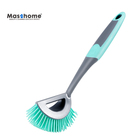 Masrhomesoft cleaning long PP handle dish spot TPR washing brush pots and pan cleaning brush