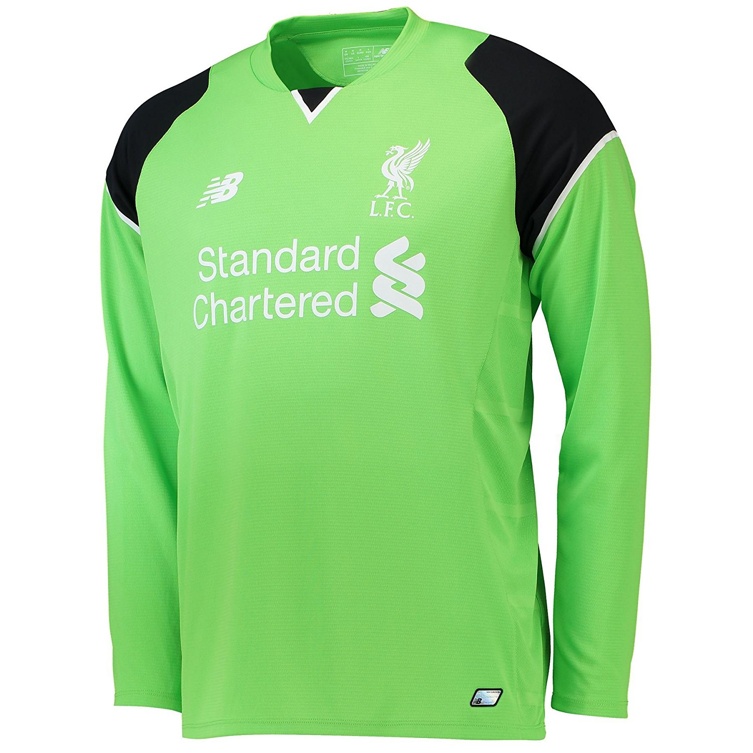 0f3a532c49c Get Quotations · New Balance Liverpool FC 2016/17 Long Sleeve Home  Goalkeeper Jersey - Adult - Green