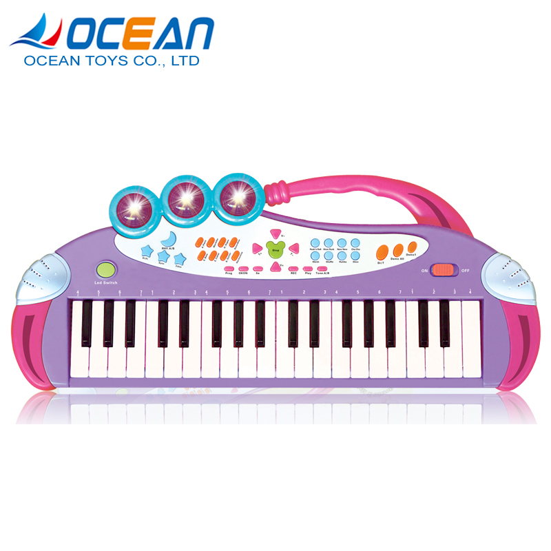 Educational mini microphone piano keyboard electronic organ toys for children