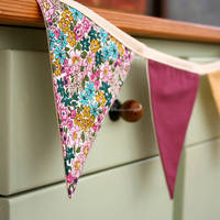 Wholesale banner fabric bunting kid's birthday party decoration supplies garland home decoration flags