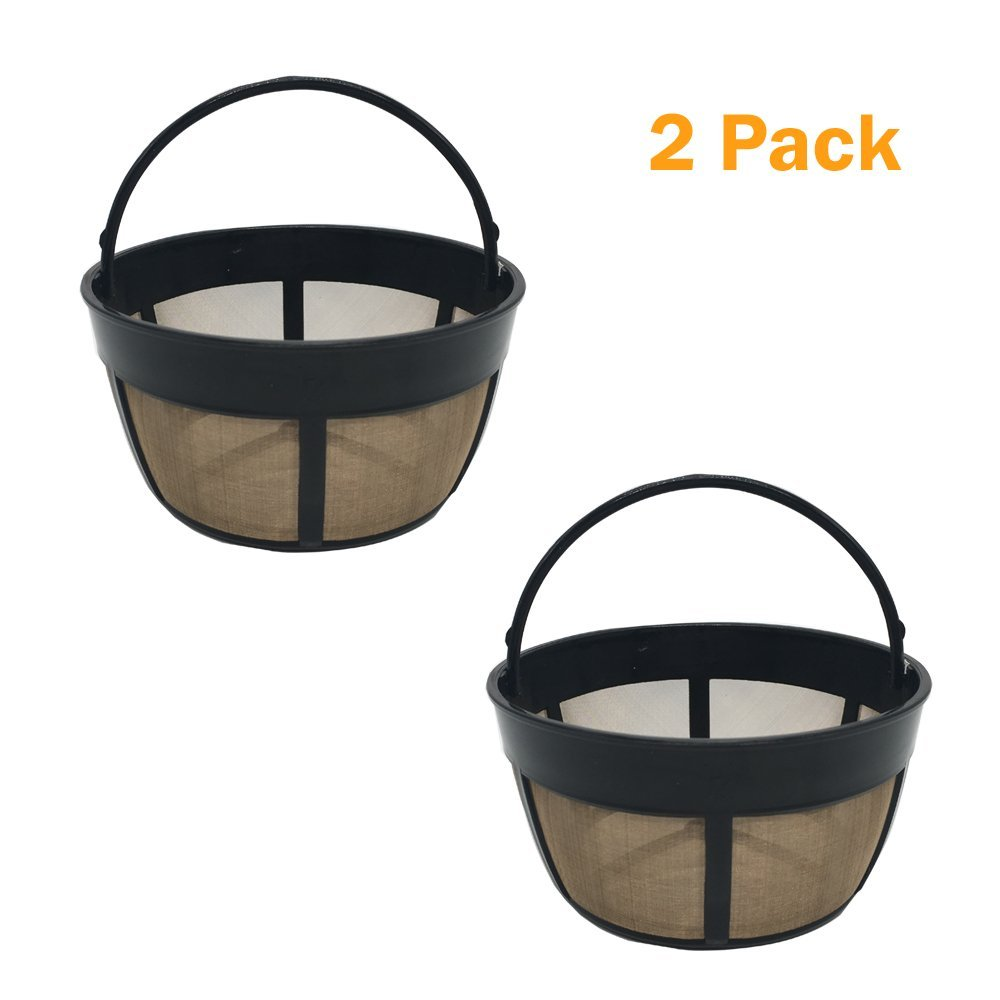 2 piece Reusable 8-12 Cup Basket Coffee Filter fits Cuisinart Coffee Makers and Brewers. Replaces your Cuisinart Reusable Basket Coffee Filter - BPA Free