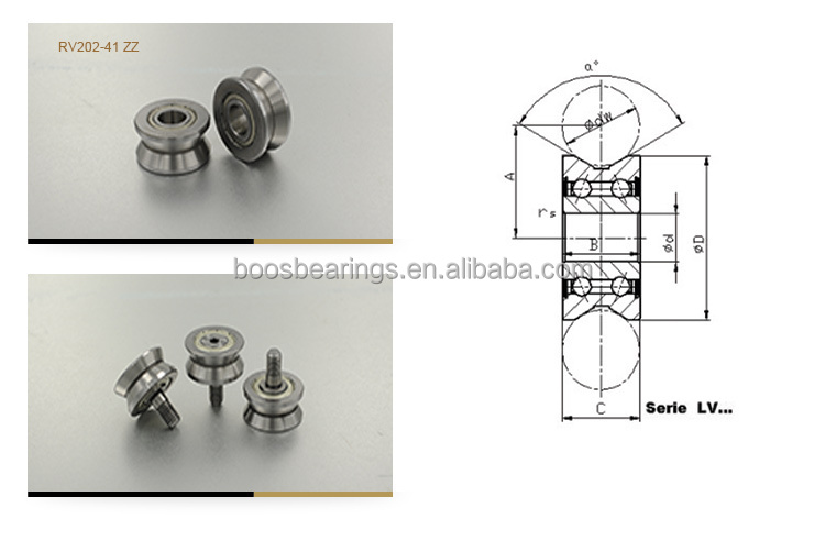 LV202/8-31 8*31*14.5MM V type guide bearing/wheel 8*31*14.5mm