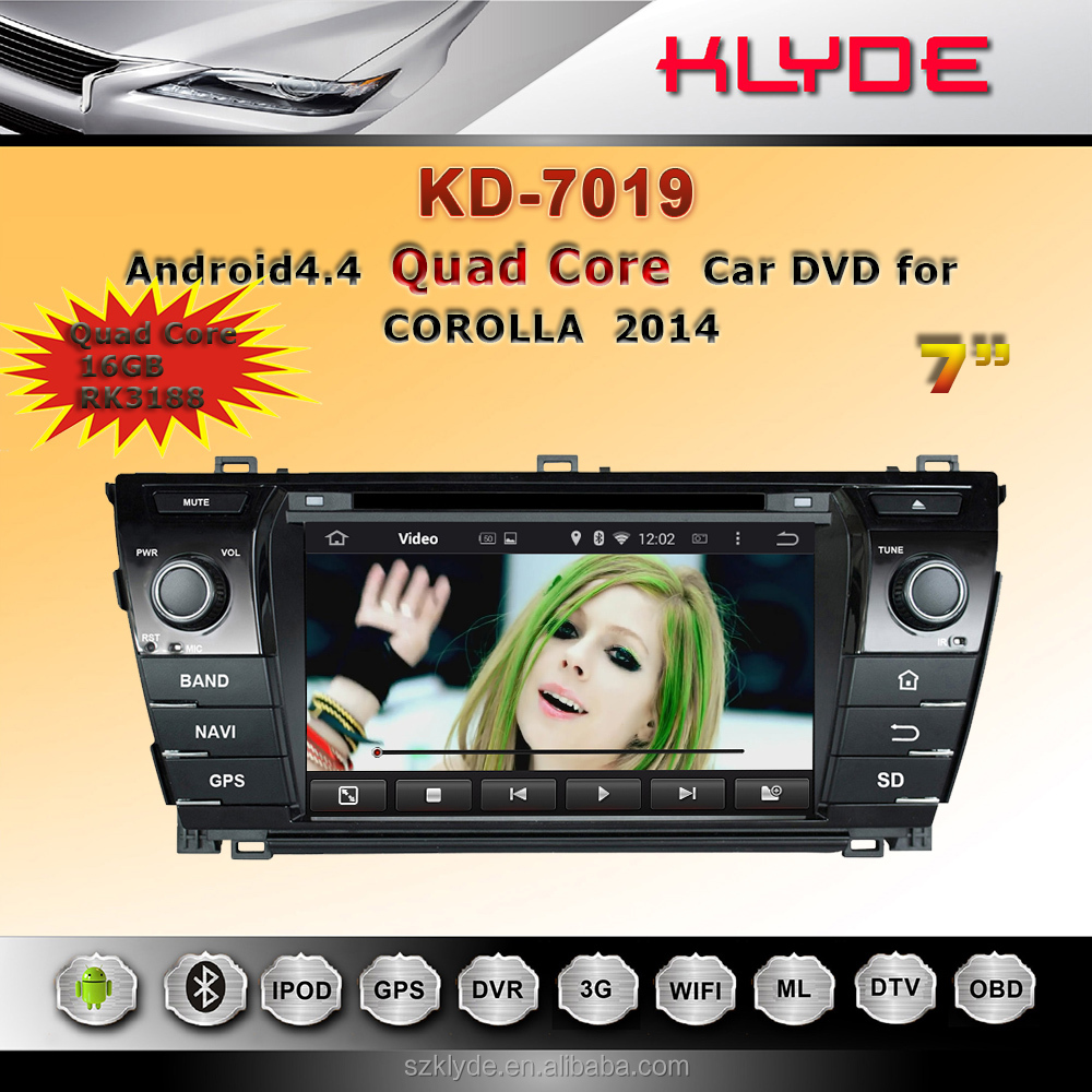 7 inch android car radio dvd player with gps navigation mirror link review camera for corolla 2014