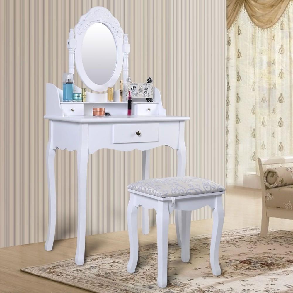 Madera Maciza Maquillaje Moderno Muebles Dormitorio Espejo Tocador  ~ Tocadores De Maquillaje Modernos
