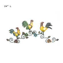 Gallo de <span class=keywords><strong>Metal</strong></span> arte de la pared de trío pared <span class=keywords><strong>decoración</strong></span> <span class=keywords><strong>pollo</strong></span> <span class=keywords><strong>decoración</strong></span> de la puerta