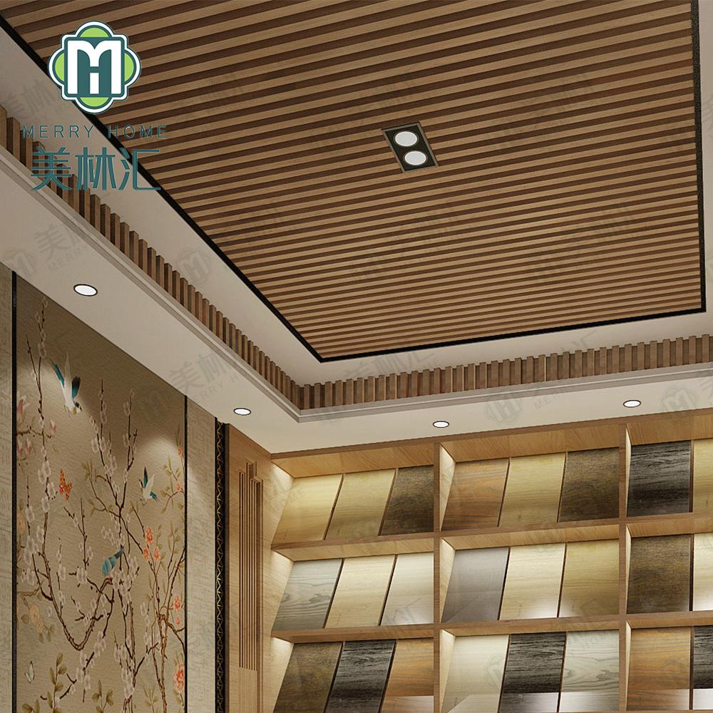 False Ceiling Interior Decor Ceiling Tiles Board Wpc Sheets Plastic Covering Pvc Wood Grain Interior Suspended Ceiling Buy Wood Grain Interior