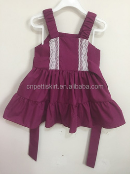 c1216342411 2017 newly fashion little girls cotton summer boutique dresses plum baby frock  design dress