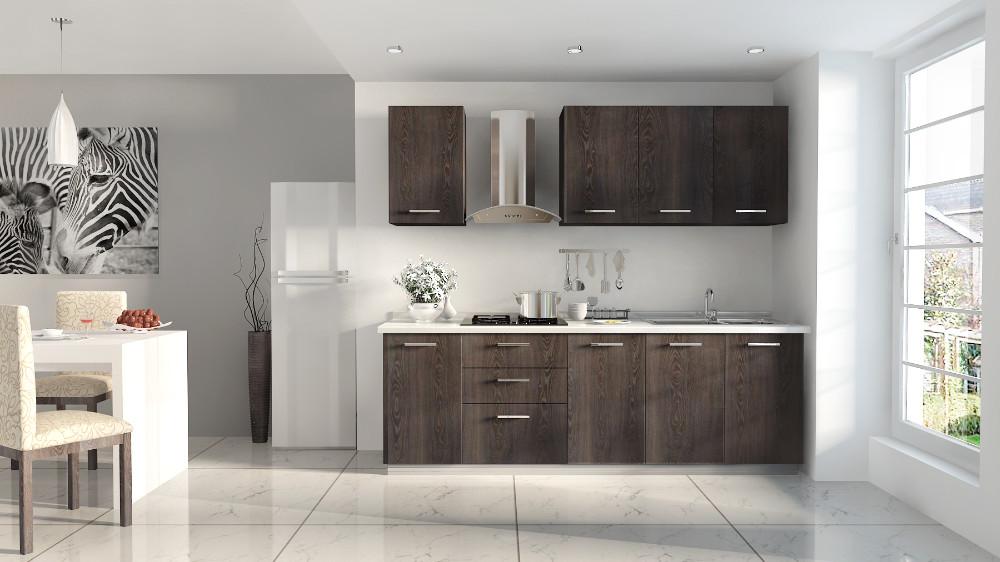 Modern design new model shaker style thermofoil pvc kitchen cabinets