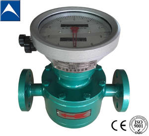 bunker oil oval gear flowmeter with filter cast steel material