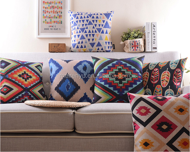Charming Latest Sofa Cushion Cover Design Digital Printed Cushion Cover