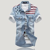 New Product Men Softtextile Denim Under Armor Shirt With Packing Materials