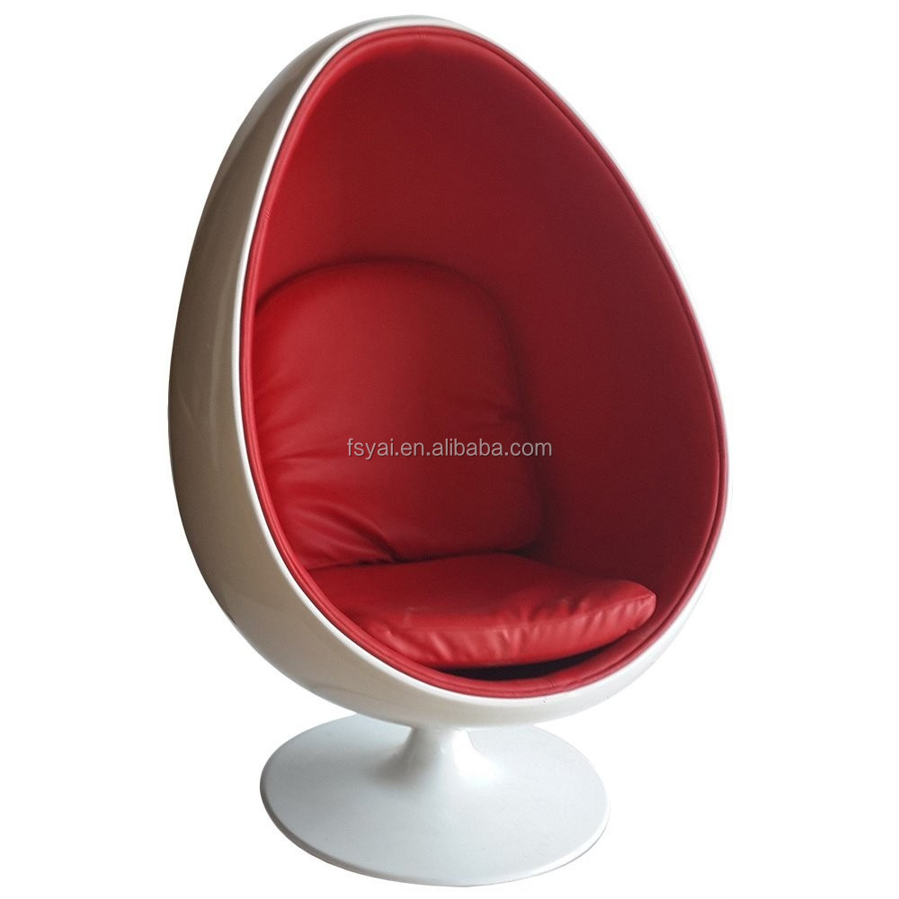 Fashionable design leisure fiberglass space eye ball cheap Egg pod ball chair