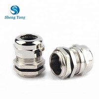 SY PG7 PG9 PG11 PG13.5 PG16 PG42 PG48 Water Proof Hawke Brass Metal Cable Glands Manufacturers IP68 ROHS