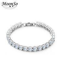 Wholesale MoonsoCraig beauty Shinning Zirconia Bracelet Exquisite Luxury Bracelet