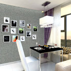 Yulan bathroom wallpaper grey vinyl grasscloth wallpaper uk china papel de parede