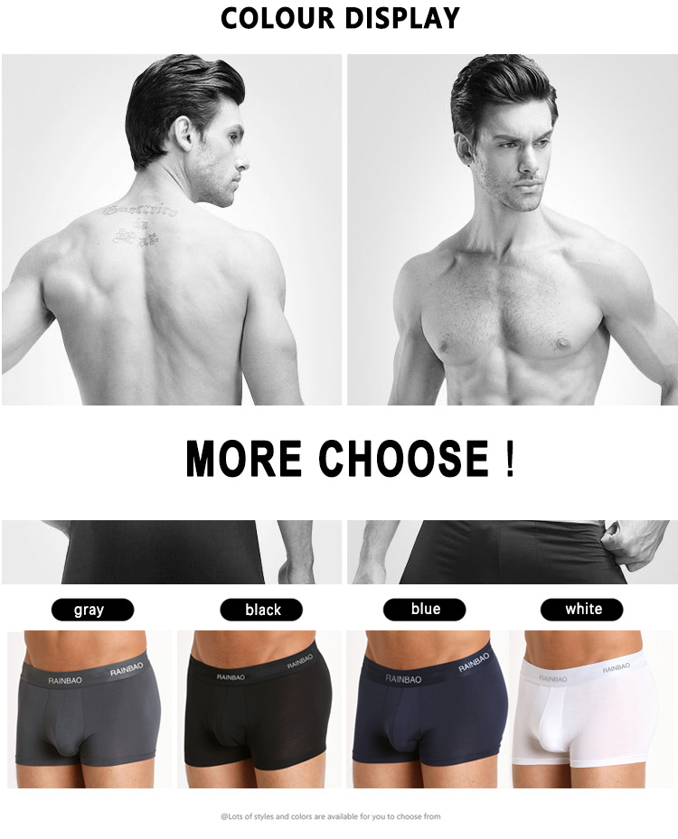 Factory OEM boxer bamboo breathable men's boxer briefs elastic underwear