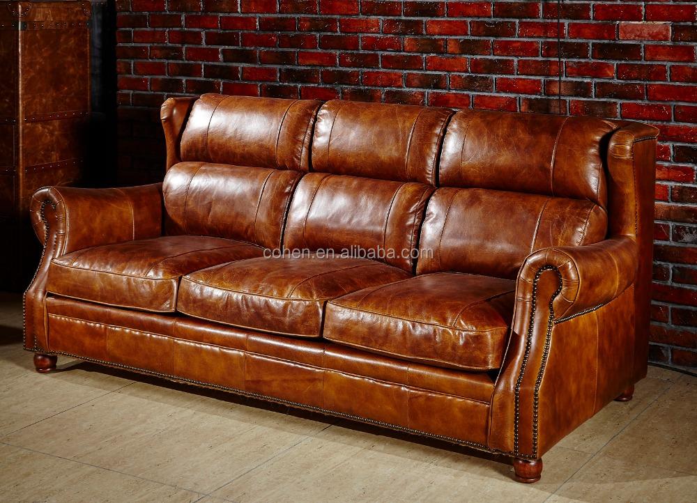 de gama alta de cuero de la vendimia sof s118 sof s para la sala de estar identificaci n del. Black Bedroom Furniture Sets. Home Design Ideas