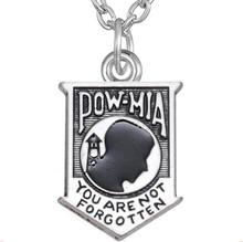 GX178 Fashion Vintage Letter POW MIA Charms Alloy You Are Not Forgotten Message Necklace