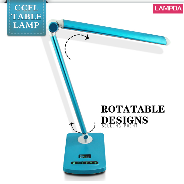 Adjust brightness/color temperature foldable LED table lamp with USB port LED desk lamp