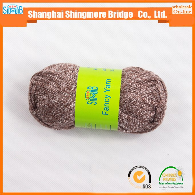 novelty yarn supplier shingmore bridge cheap wholesale good quality acrylic nylon tube yarn made in china