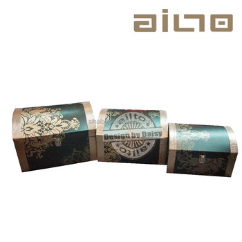 Luxury Chinese Style Hight Quality Cardboard Storage Box With Metal Lock