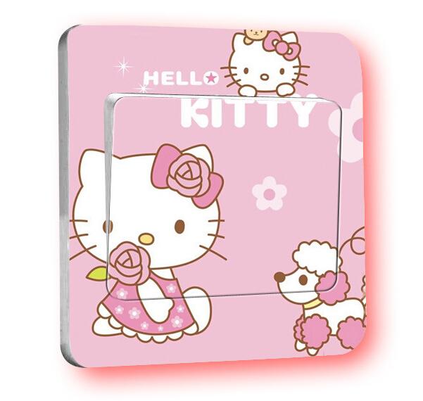 Hello Kitty Home Decor: Creative Cartoon Cute DIY Fashion Wall Sticker Decals Home