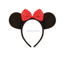Super Cute Mouse Ears Womens Girls Party Fancy Dress Halloween Ears Headband BH4107