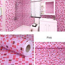 Наклейки для ванной, водонепроницаемые настенные наклейки, декоративные обои для кухни, туалета, самоклеющиеся обои из ПВХ, декоративная пл...(Китай)